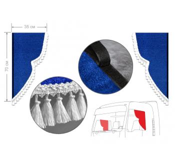 Комплект уголков синий с кисточками 35*70см