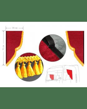 Комплект уголков красный с кисточками 35*70см
