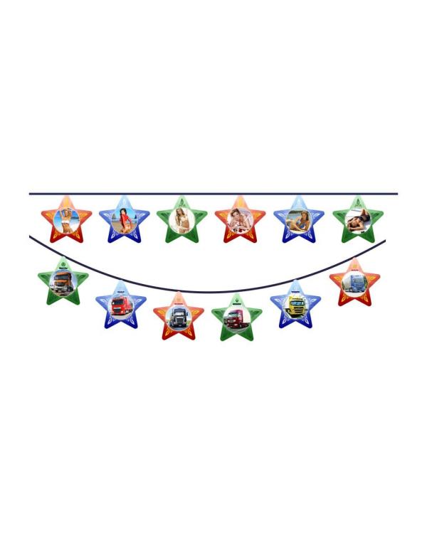 Гирлянда на присосках Звезды двухстороняя Девушки-АВТО