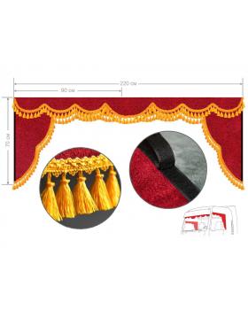 Ламбрекен и уголки удлиненные Красный-желтый