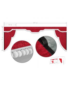 Комплект штор 2X ЕВРОПА уголки + ламбрекен