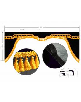 Комплект Ламбрекен лобового окна и уголки (малотоннажники)