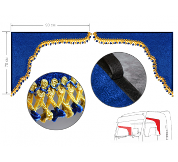 Комплект уголков синий с фонариками 70*90см