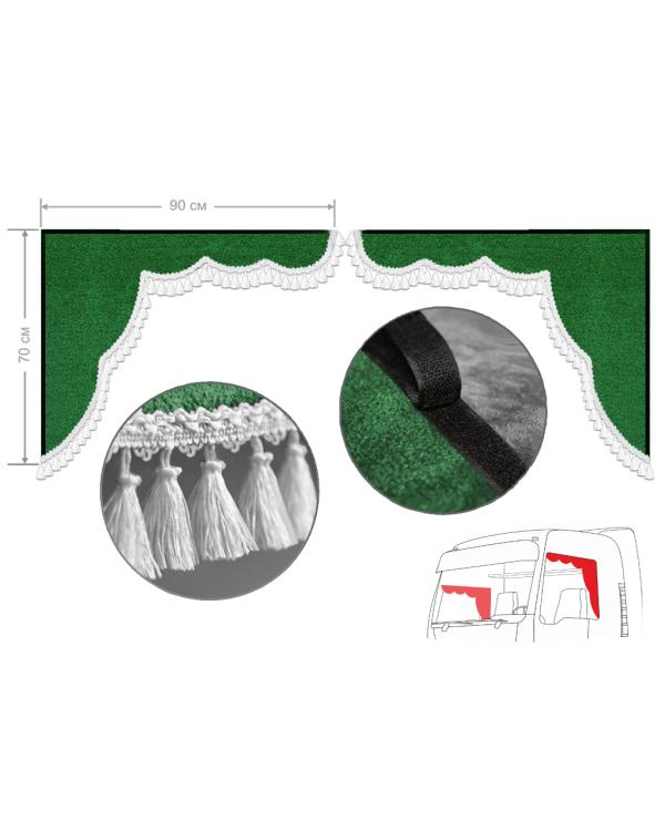Комплект уголков зеленый с кисточками