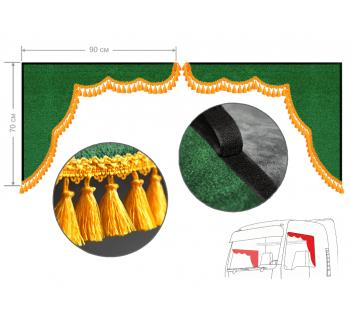Комплект уголков удлиненные зеленые 90*70см