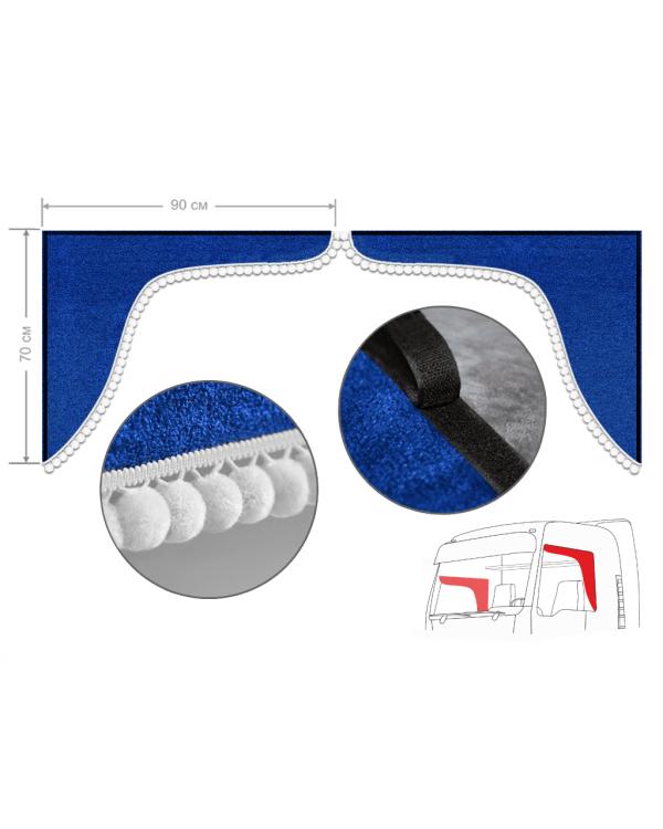 Комплект уголков синий с помпонами