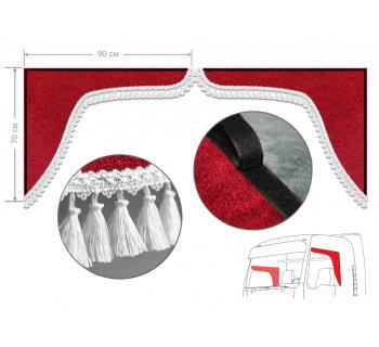Уголки в кабину удлиненные красные 90*70см