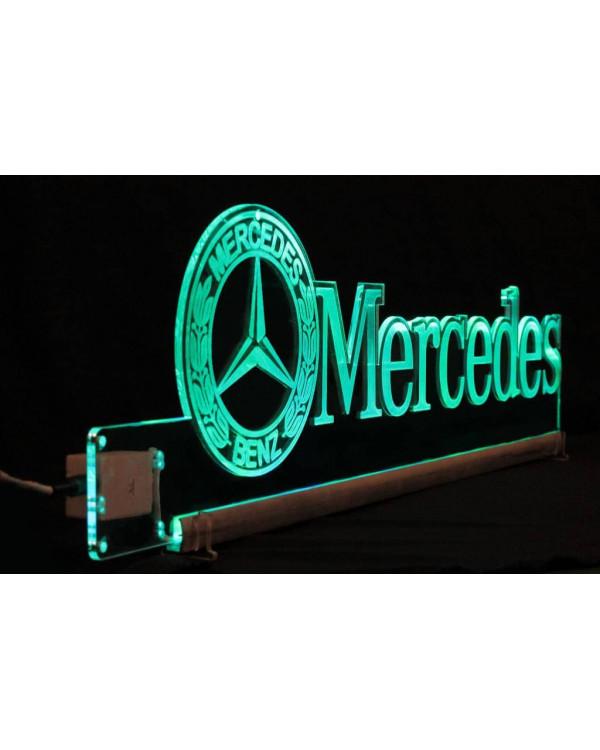 Светодиодная табличка MERCEDES 590мм логотип