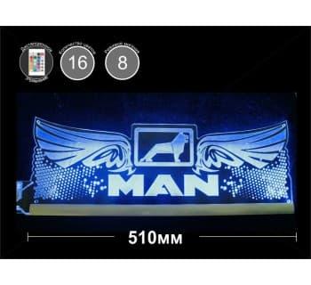 Светодиодная табличка MAN Крылья 510мм