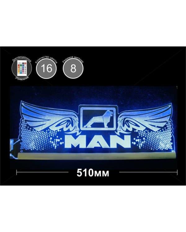 Светодиодная табличка MAN (крылья) 510мм