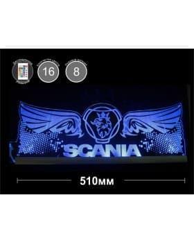 Светодиодная табличка SCANIA (крылья) 510мм