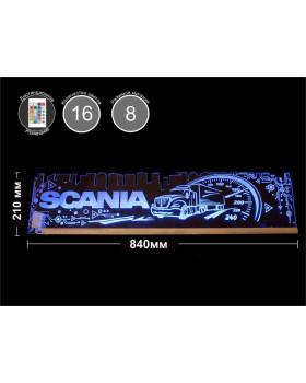 Светодиодная табличка SCANIA (город) 840мм