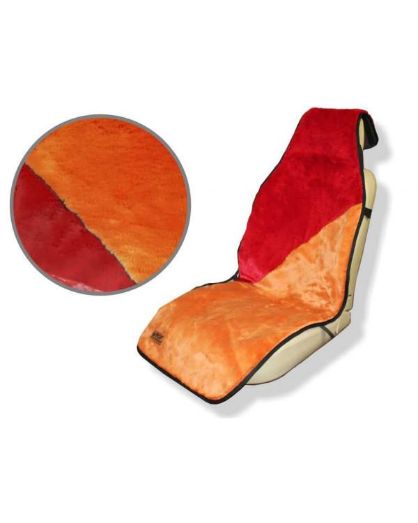 Накидка меховая модель №17-04 (двухцветная)