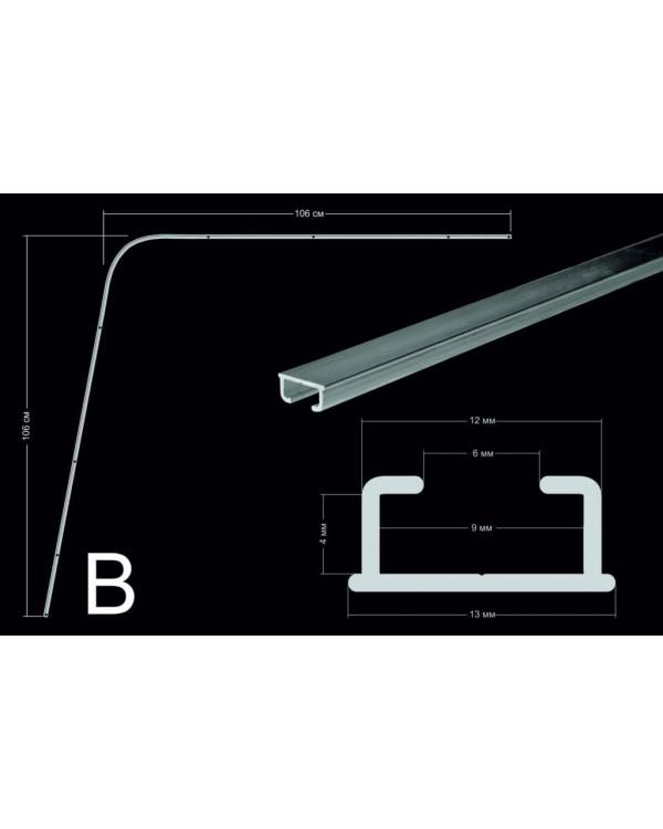 Комплект направляющих со шторами из астры с подкладом (тип В)