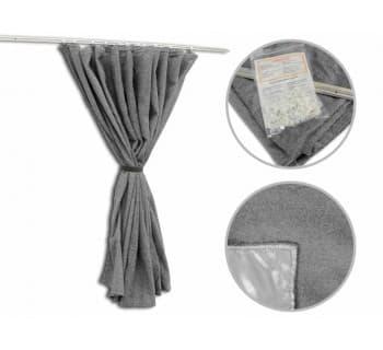 Комплект направляющих со шторами из астры с подкладом (тип С2)