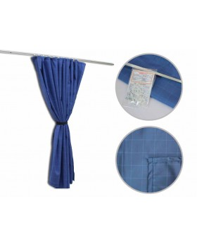 Комплект направляющих со шторами из ткани скитлс (тип С)