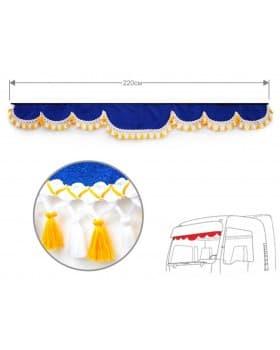 Ламбрекен лобового окна 220см (синий)