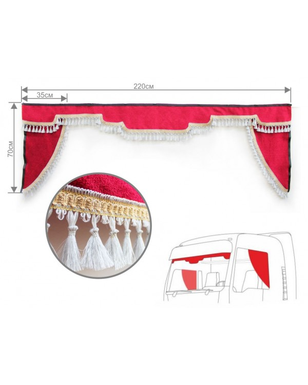 Комплект ламбрекен лобового окна с уголками