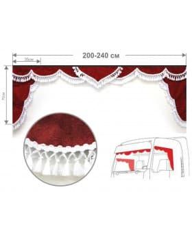 Комплект универсальный ламбрекен лобового окна и уголки