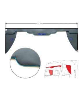 Комплект Ламбрекен лобового окна и уголки Mercedes (экокожа)