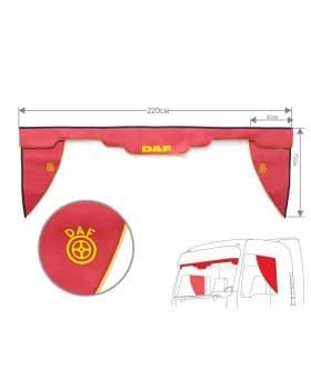 Комплект Ламбрекен лобового окна и уголки Daf (экокожа)