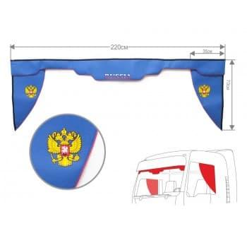 Комплект Ламбрекен лобового окна и уголки Россия (еврофуры)