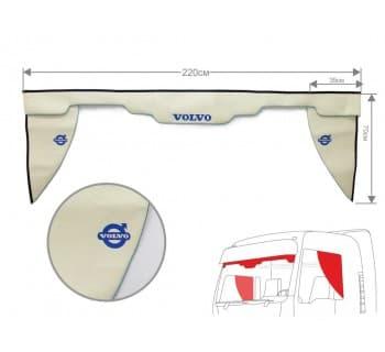Комплект Ламбрекен лобового окна и уголки Volvo (экокожа)