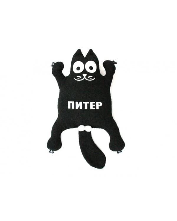 """Игрушка на присосках Кот """"Питер"""" Черный"""