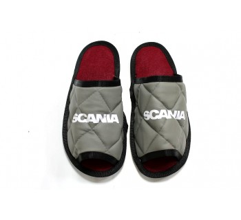 Тапочки экокожа SCANIA (Серый)