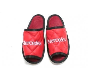 Тапочки экокожа MERCEDES (Красный)