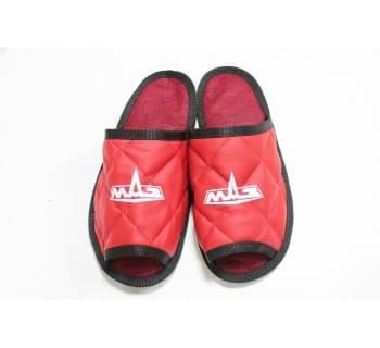 Тапочки экокожа MAZ (Красный)