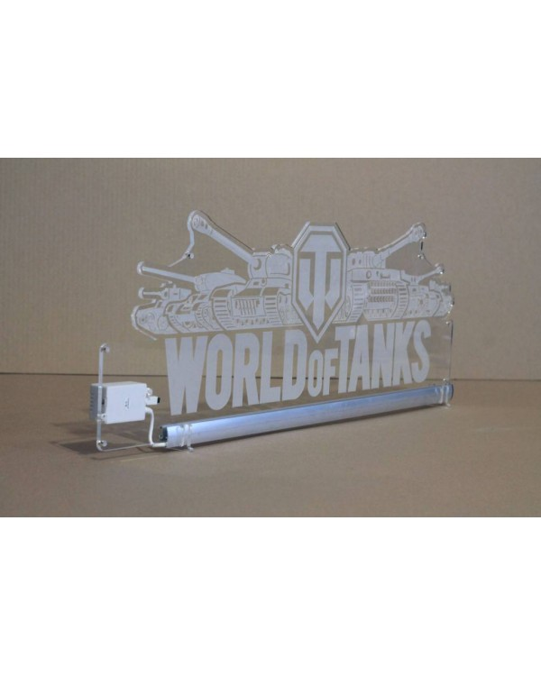 Светодиодная табличка WORLD OF TANKS 590мм