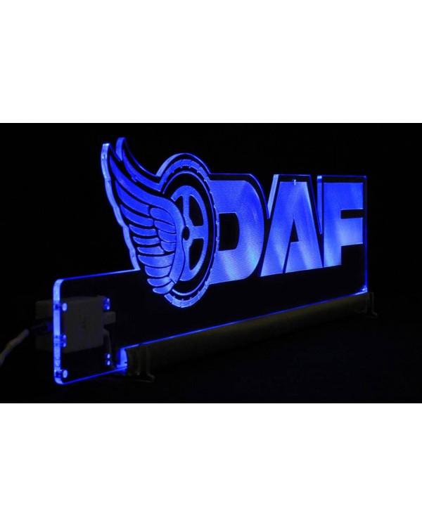 Светодиодная табличка DAF 590мм логотип