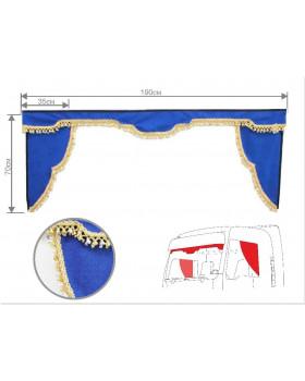 Комплект Ламбрекен лобового окна и уголки