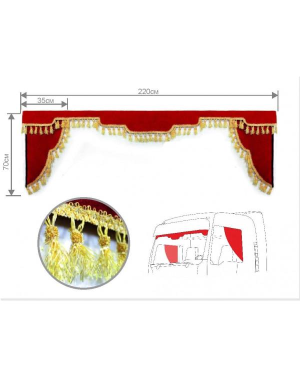 Комплект Ламбрекен лобового окна и уголки (220см)