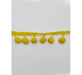 Бахрома для штор Помпон Апельсин 4см