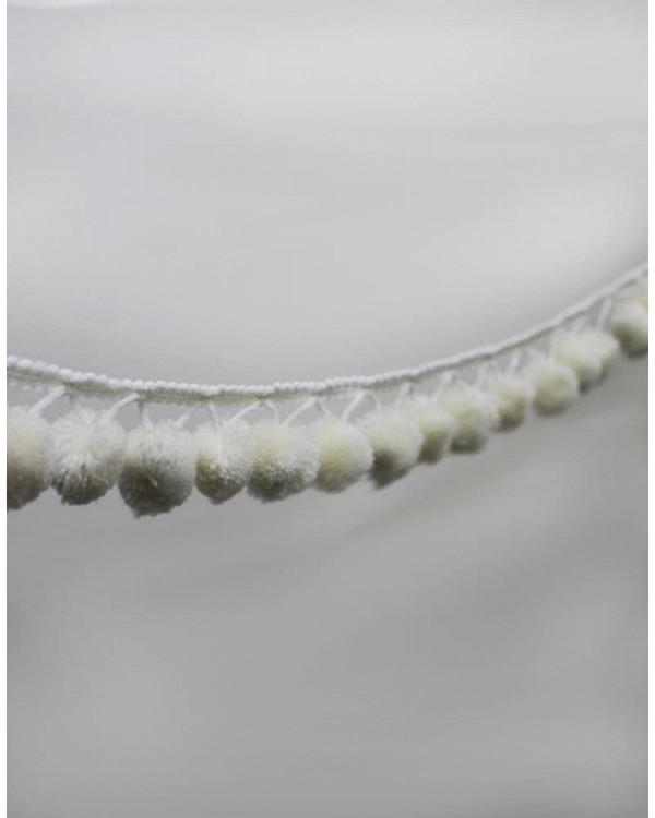 Бахрома Помпон Белый 8,8 см