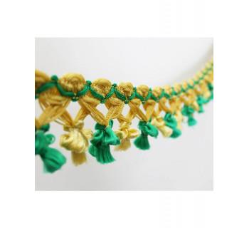 Бахрома Фонарик золото/зеленый