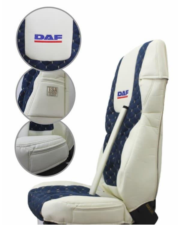 Чехлы DAF 105-106 Э/К Беж. с вышивкой