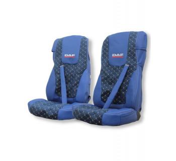 Чехлы DAF 105-106 Э/К синяя с вышивкой