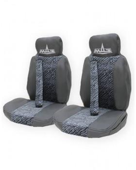 Чехлы на МАЗ Rest Бархат вышивка серый