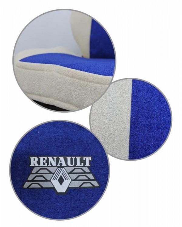 Чехлы Renault T440 Астра сине-бежевые шелкография