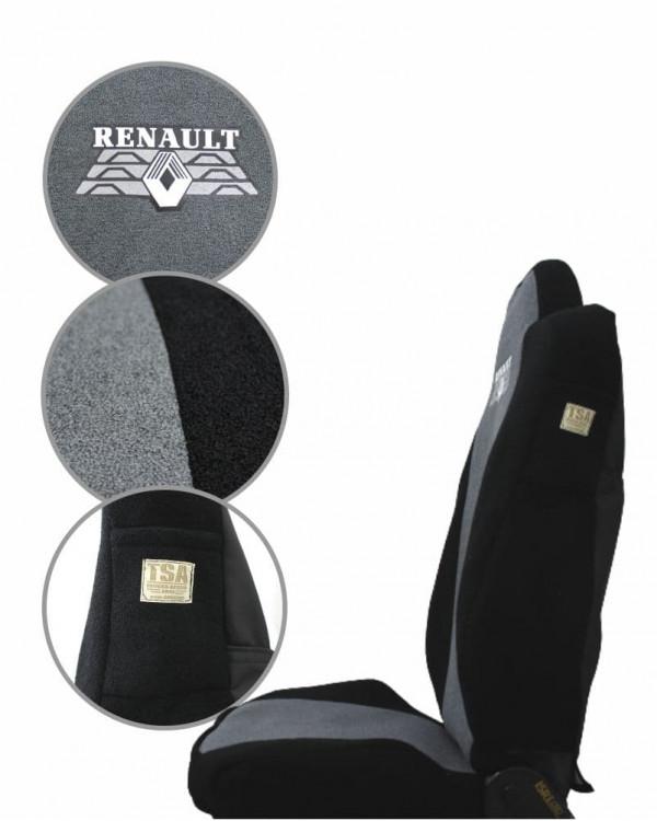 Чехлы Renault T440 Астра серый шелкография