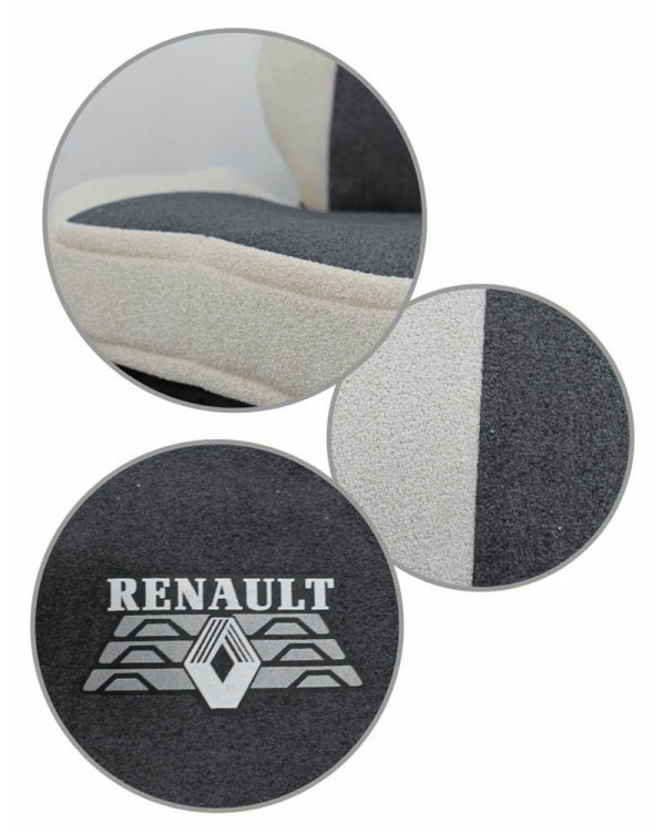 Чехлы Renault T440 Астра серый-беж шелкография
