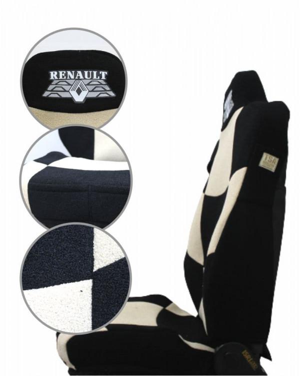 Чехлы Renault T440 Шахмат черный-беж шелкография