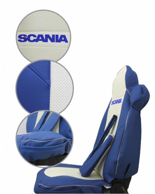 Чехлы SCANIA 5 R440 Блютуз экокожа шелкография