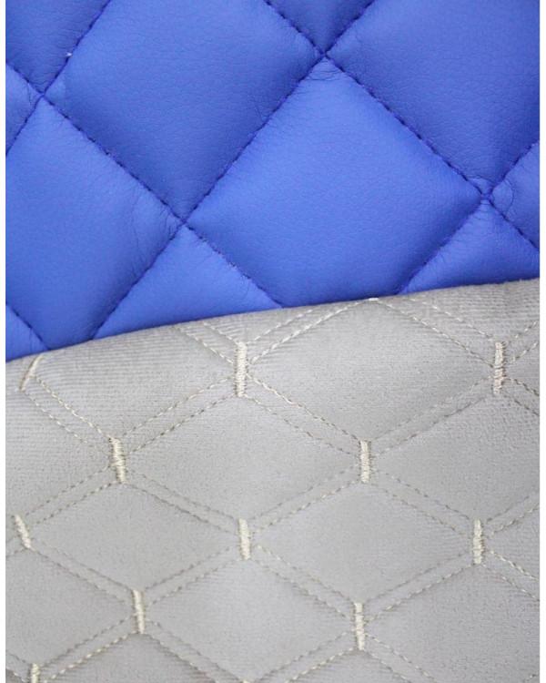 Чехлы на VOLVO FH VS Синяя э/к вышивка