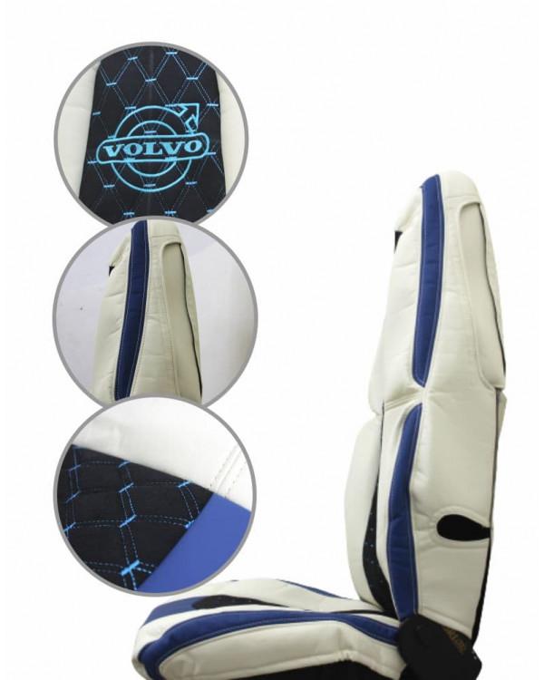 Чехлы VOLVO FH16 в-з подзор синий-черный