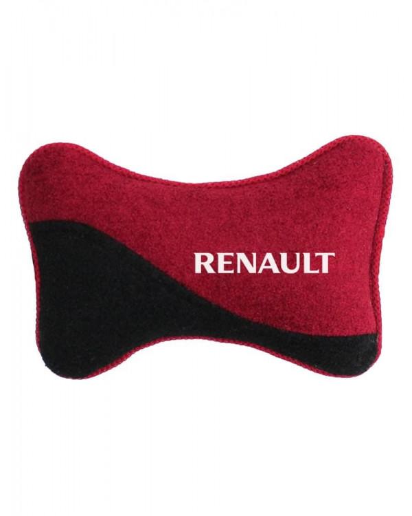 Подголовник косточка RENAULT красная