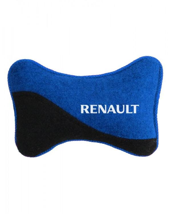 Подголовник косточка RENAULT синяя